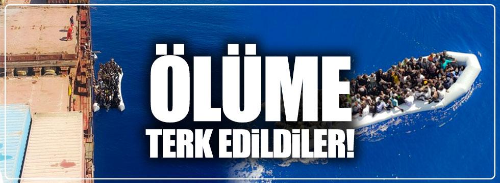 Ölüme terk edilen 132 göçmeni Türk gemisi kurtardı