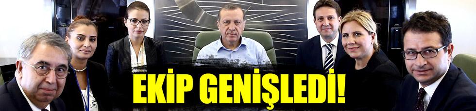 Erdoğan'ın uçağında yeni isimler