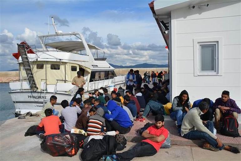 Çiller'in yatından 134 kaçak göçmen çıktı