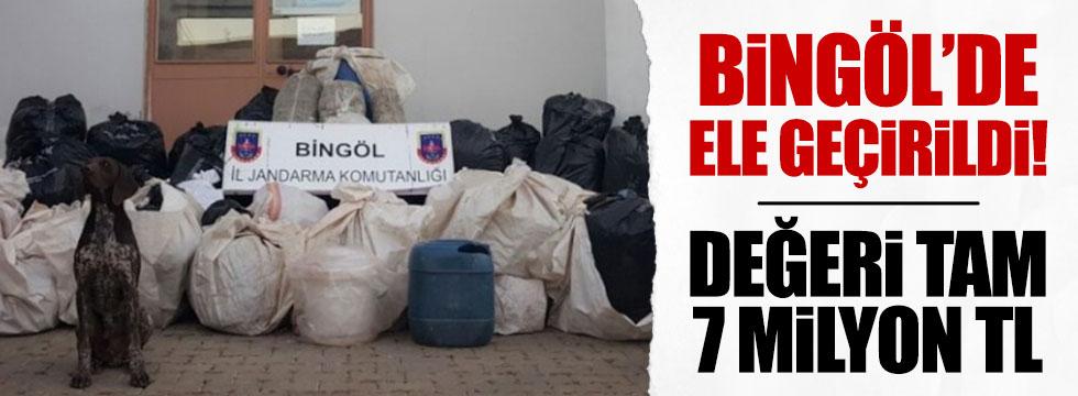 Bingöl'de 7 milyon TL'lik esrar operasyonu