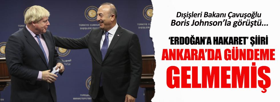 İngiltere Dışişleri Bakanı Boris Johnson Ankara'da