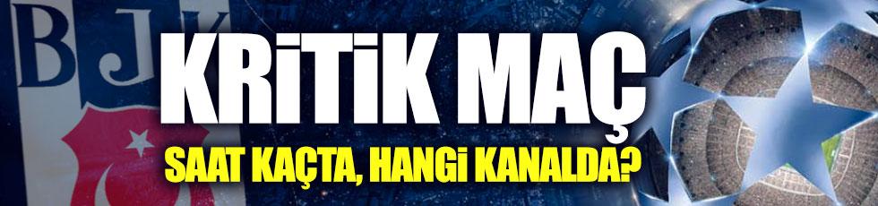 Beşiktaş-Dinamo Kiev Şampiyonlar Ligi maçı saat kaçta, hangi kanalda?