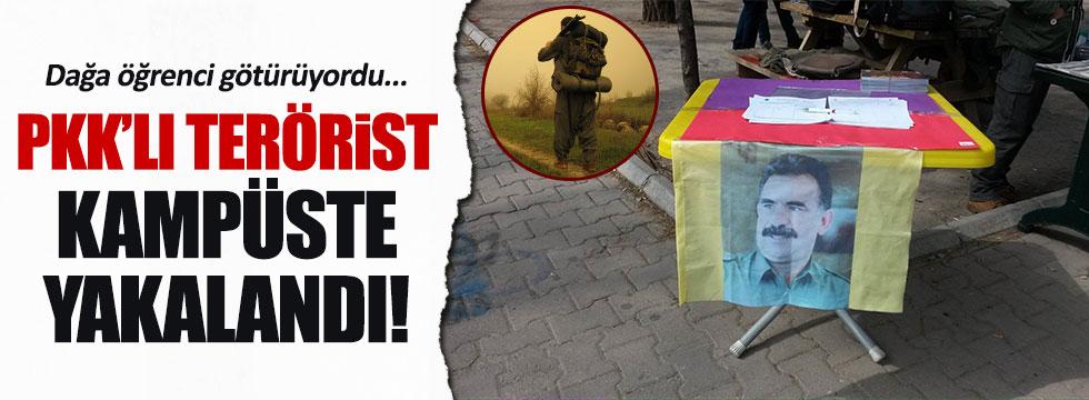 PKK'ya eleman sağlayan terörist kampüste yakalandı
