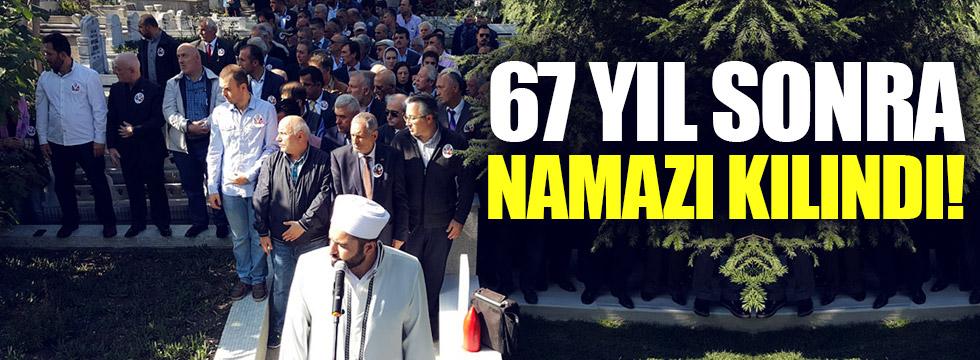 Nuri Paşa'nın cenaze namazı 67 yıl sonra kılındı