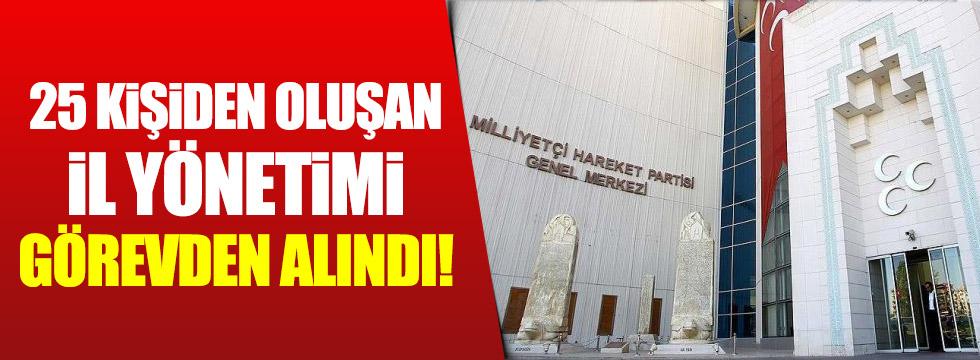 MHP Genel Merkezi Aydın teşkilatını kapattı