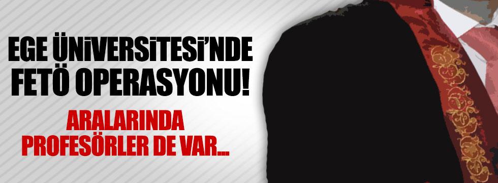 İzmir'de 23 akademisyene FETÖ operasyonu