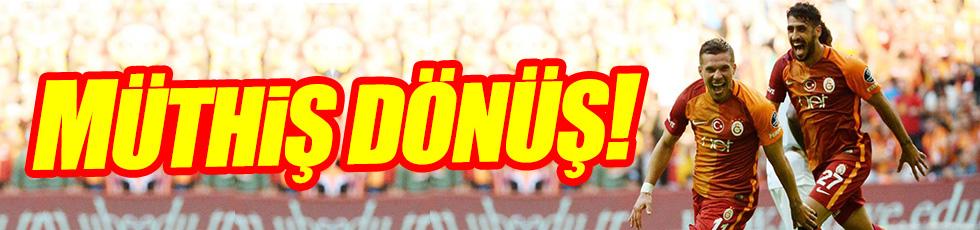 Galatasaray Podolski ile güldü