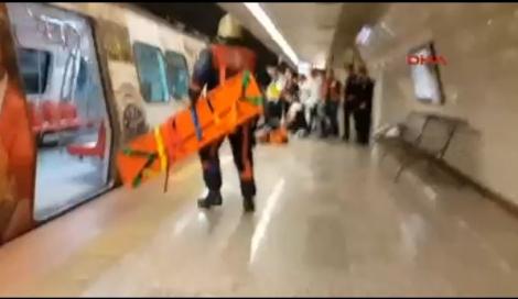 Metroda korkunç olay!