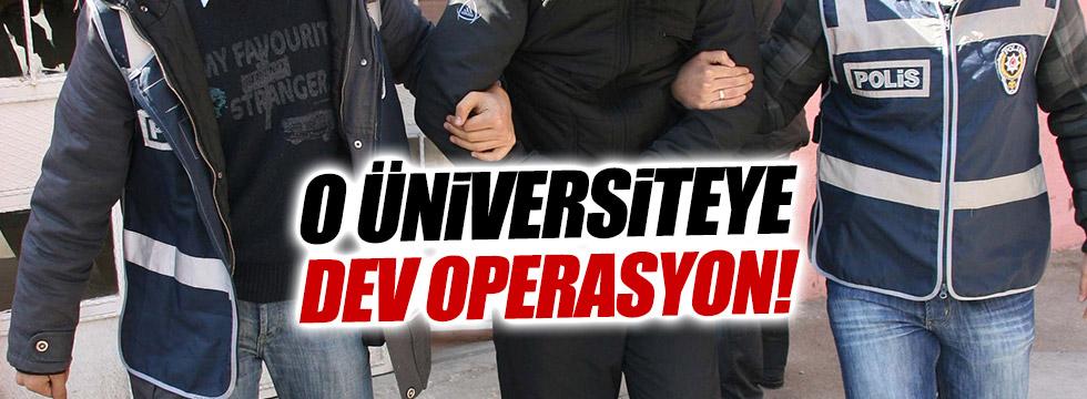Ege Üniversitesi'ne FETÖ operasyonu