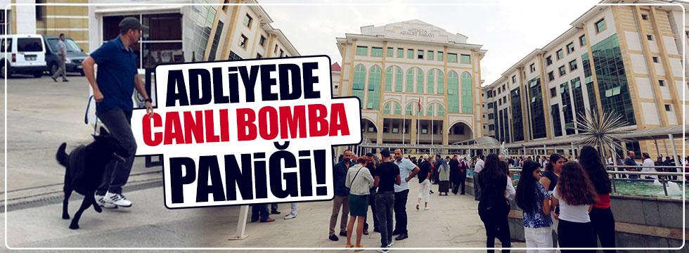 Antalya Adliyesi'nde canlı bomba alarmı