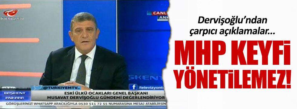 Müsavat Dervişoğlu'ndan çarpıcı açıklamalar