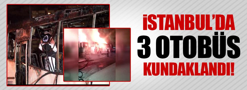 İstanbul'da halk otobüsü kundakladı