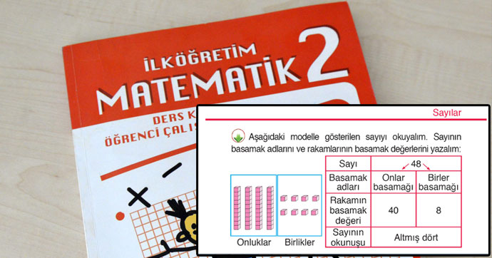 İlkokul ikinci sınıf 'Matematik' kitabında trajikomik hata
