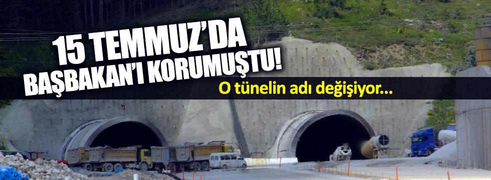 Başbakan'ın gizlendiği tünelin adı değişiyor