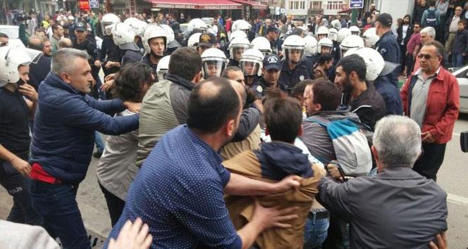İzinsiz gösteriye polis müdahalesi: 36 gözaltı