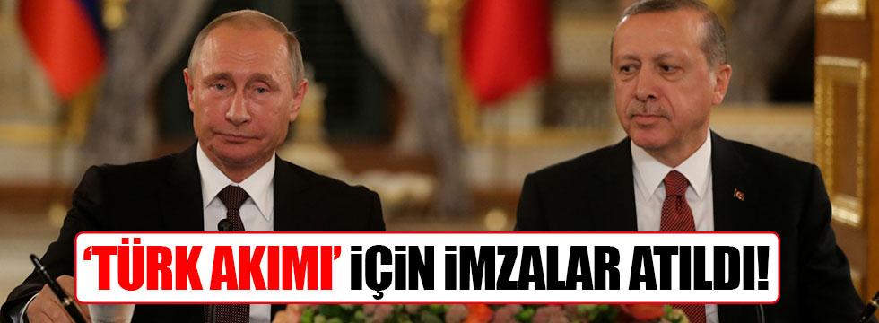 Türk Akımı'nda imzalar atıldı
