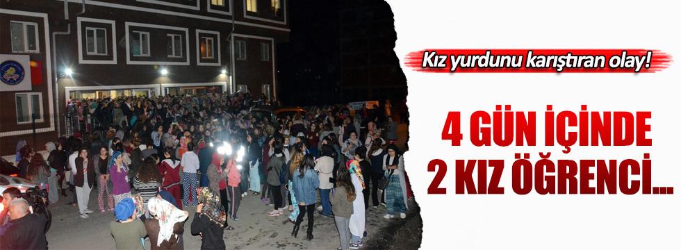 Zonguldak'ta kız yurdunu karıştıran olay!