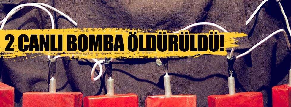 Şırnak'ta 2 canlı bomba öldürüldü