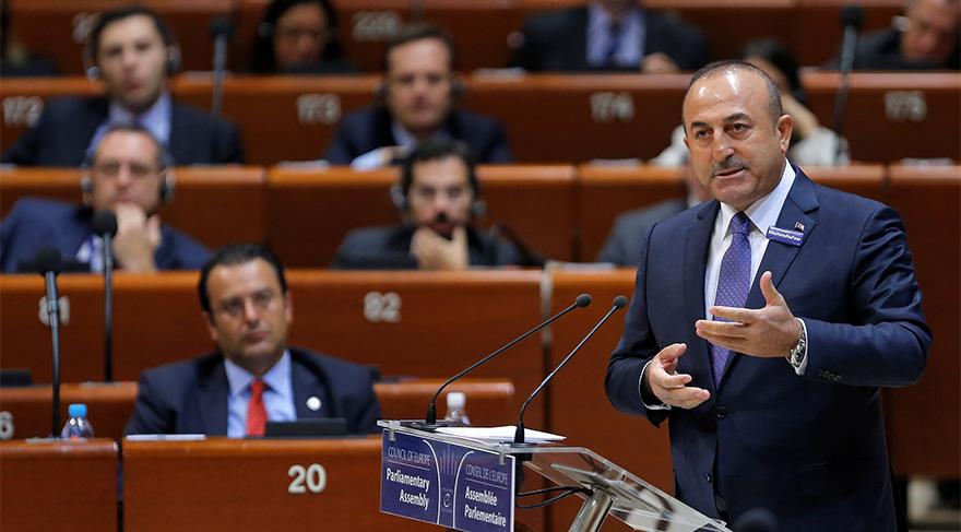 Çavuşoğlu, AKPM'de konuştu