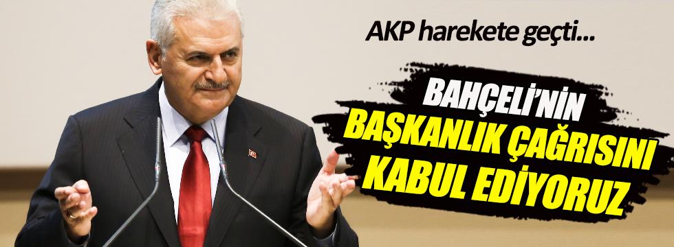 AKP başkanlık için harekete geçiyor