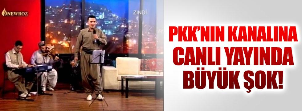 PKK'nın kanalı Newroz TV'ye canlı yayında büyük şok