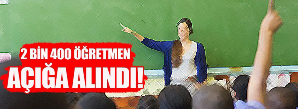 MEB 2 bin 400 öğretmeni görevden uzaklaştırdı
