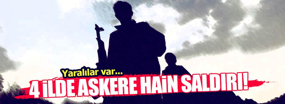 PKK 4 ilde askere saldırdı: Çok sayıda yaralı var