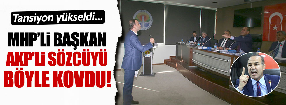 Hüseyin Sözlü, AKP Grup Sözcüsünü toplantıdan attı