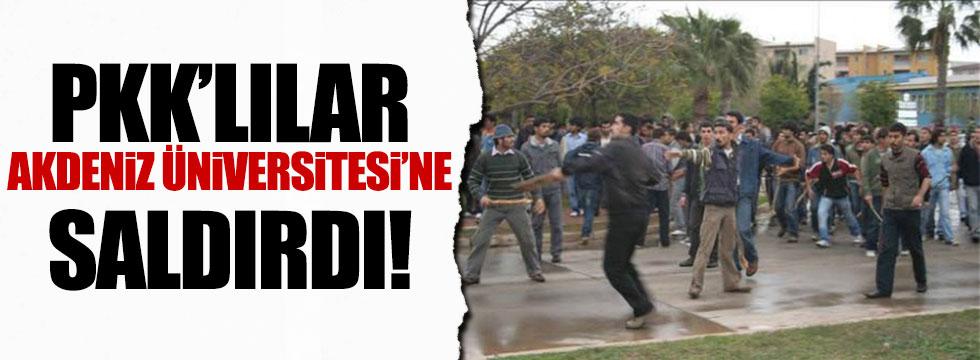 Akdeniz Üniversitesi'nde PKK provokasyonu