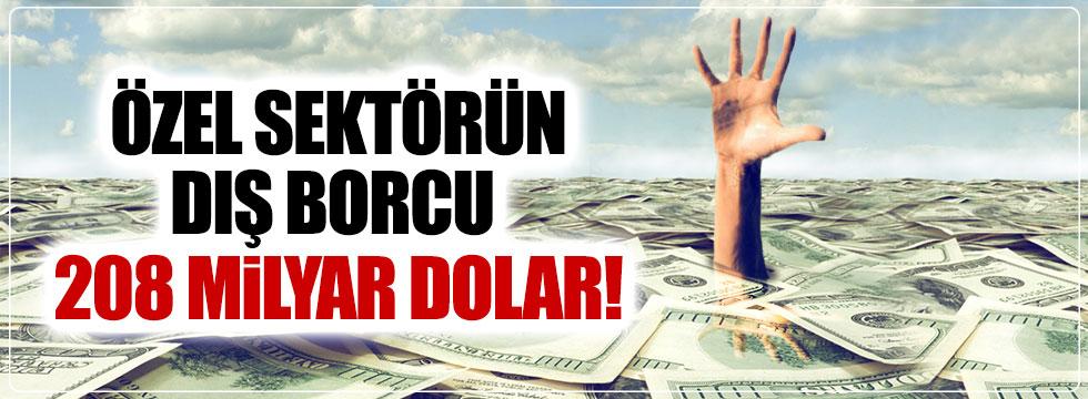 Özel sektörün dış borcu 208 milyar dolar