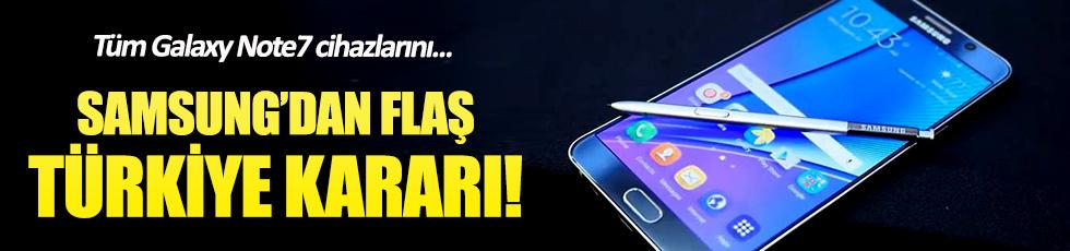 Samsung'dan Galaxy Note 7 için Türkiye kararı