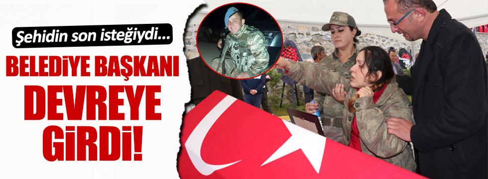 Şehit asker Erdi Demirer'in son isteği gerçekleştiriliyor