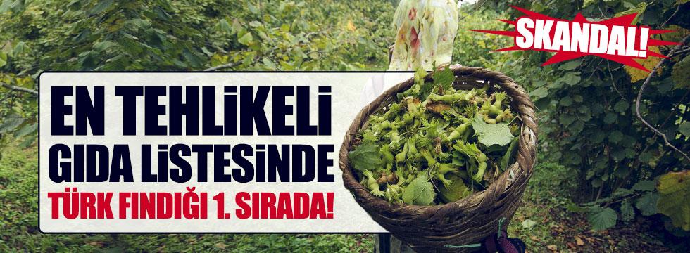 En tehlikeli 10 gıda arasında Türk fındığı ilk sırada
