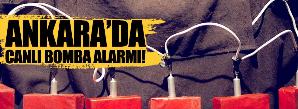 Başkent'te canlı bomba alarmı