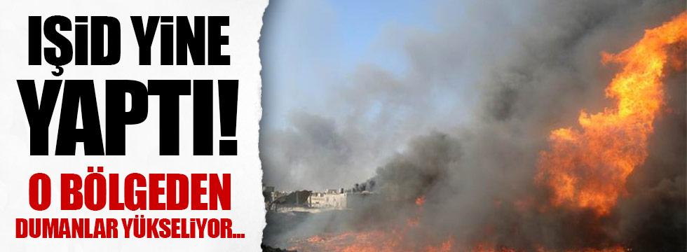 IŞİD, ham petrolü ateşe verdi