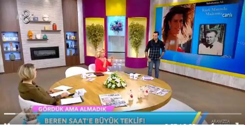 """TV 8'de """"Kürk Mantolu Madonna"""" rezaleti!"""
