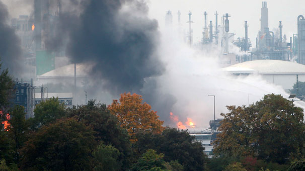 Almanya'da patlama! Çok sayıda yaralı var