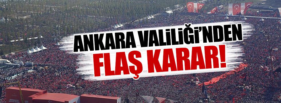 Ankara Valiliği toplantı ve yürüyüşleri yasakladı