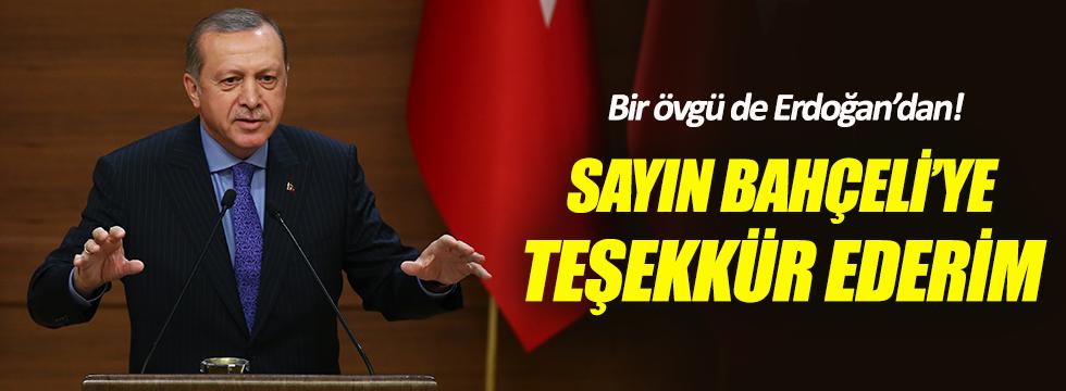Erdoğan'dan Bahçeli'ye referandum teşekkürü