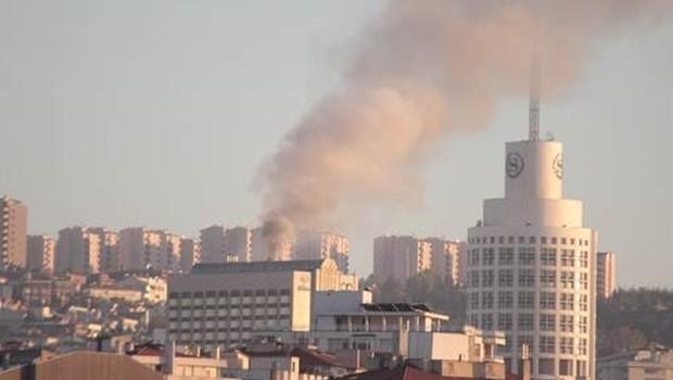 Ankara'da dünyaca ünlü otel yandı
