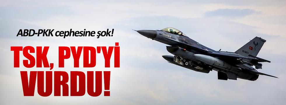 Türk jetleri PYD hedeflerini vurdu!