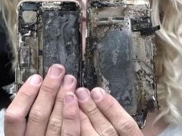 iPhone 7 de patladı!