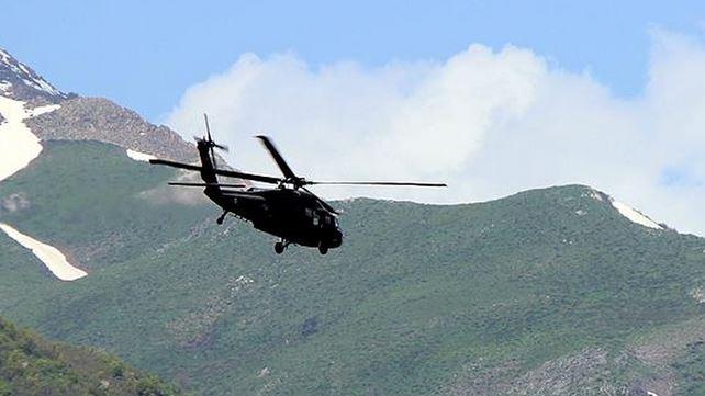 Bomba yüklü araç helikopterle imha edildi