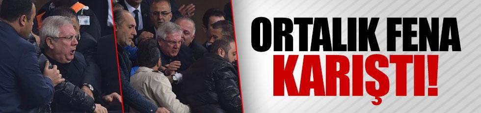 Konya'da tribün fena karıştı