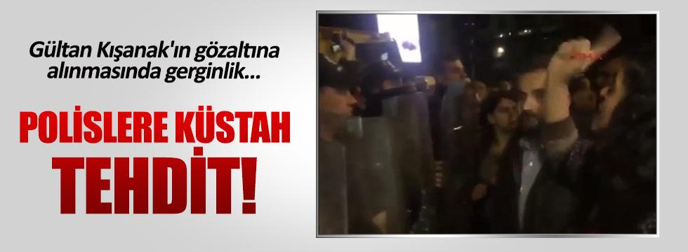 Sebahat Tuncel polisleri tehdit etti