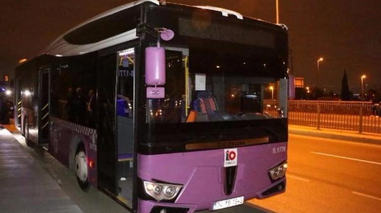 Belediye otobüsüne molotoflu saldırı!