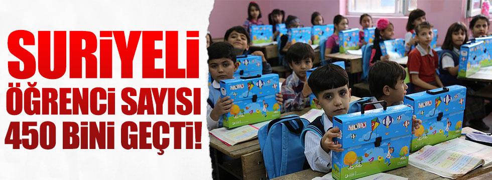 Suriyeli öğrenci sayısı 450 bini geçti