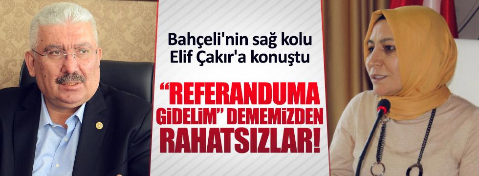 Elif Çakır MHP'deki referandum çelişkisini yazdı
