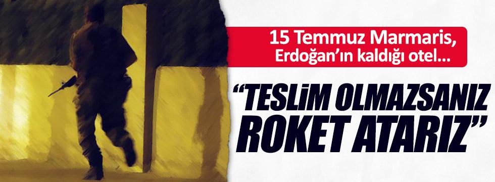 Erdoğan'ı otelinden almak isteyen FETÖ'cüler itiraf etti