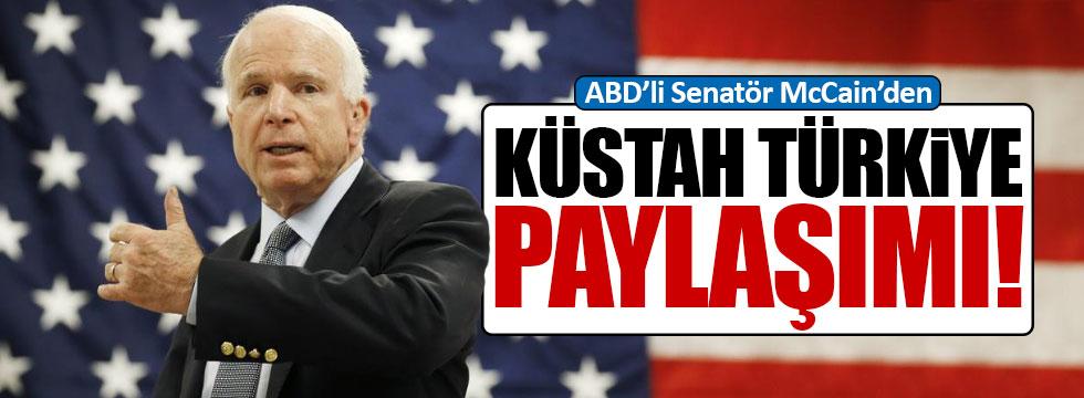 ABD'li senatörden küstah Türkiye paylaşımı